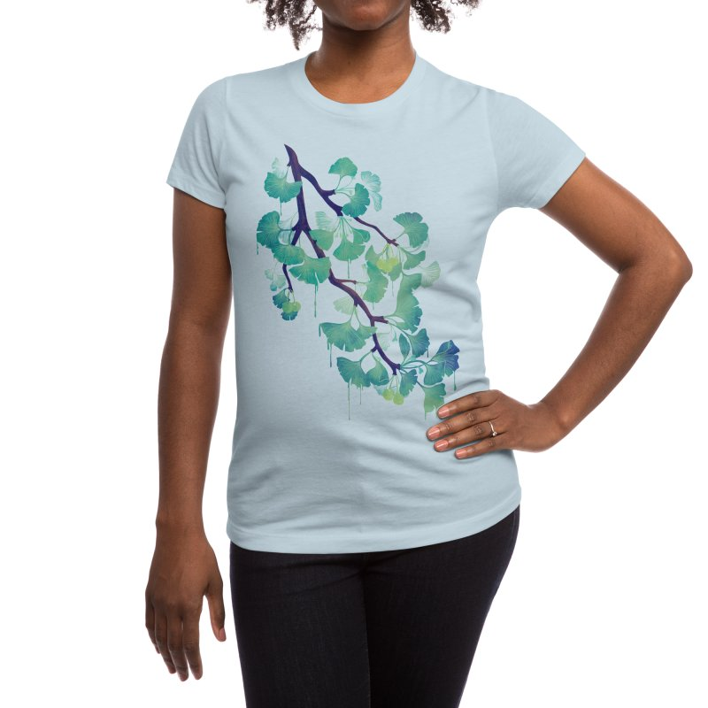 O Ginkgo (in Green) Women's T-Shirt by Littleclyde Illustration