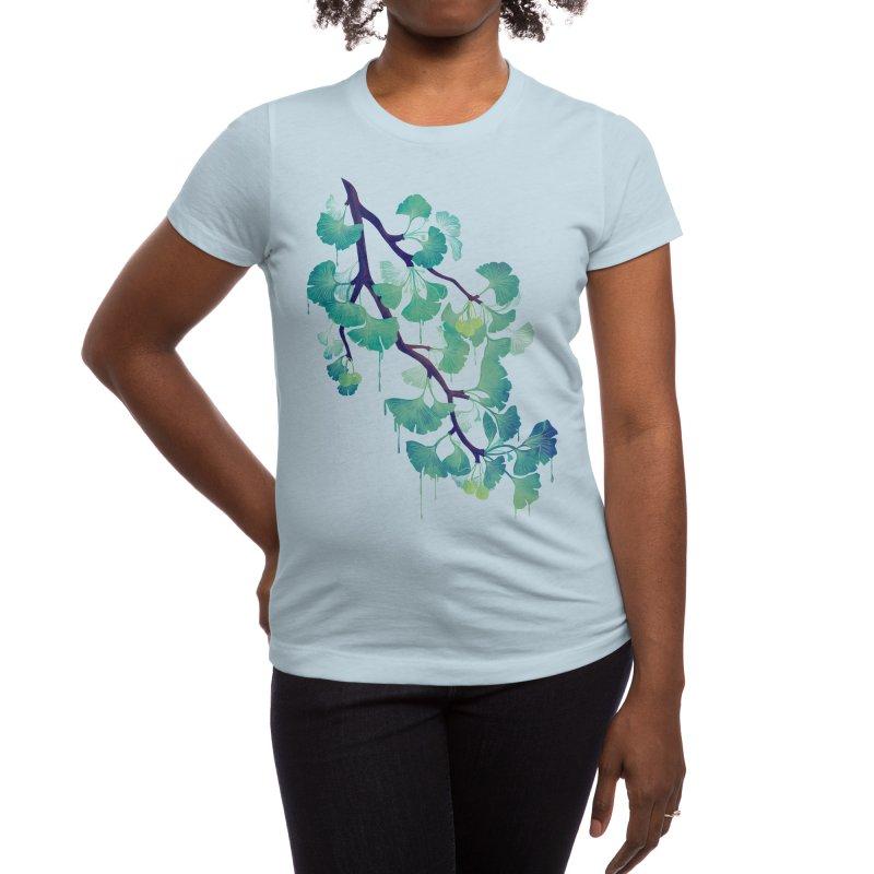 O Ginkgo (in Green) Women's T-Shirt by Littleclyde Illustration