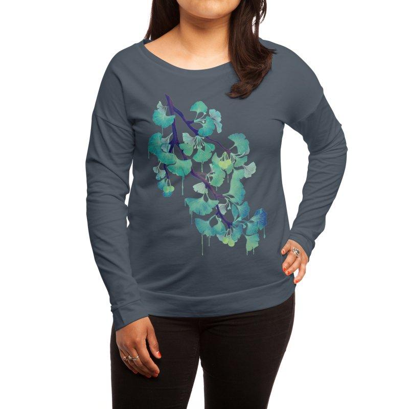 O Ginkgo (in Green) Women's Longsleeve T-Shirt by Littleclyde Illustration