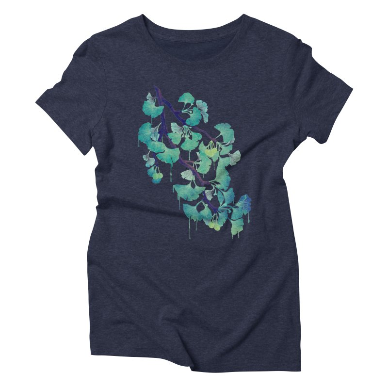 O Ginkgo (in Green) Women's Triblend T-Shirt by Littleclyde Illustration