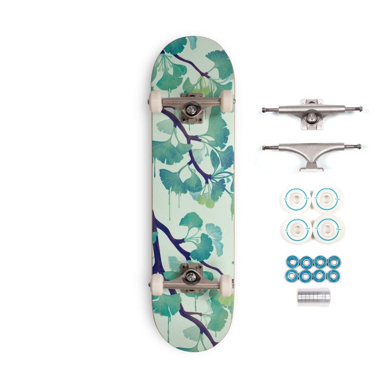 O Ginkgo (in Green) Accessories Skateboard by Littleclyde Illustration