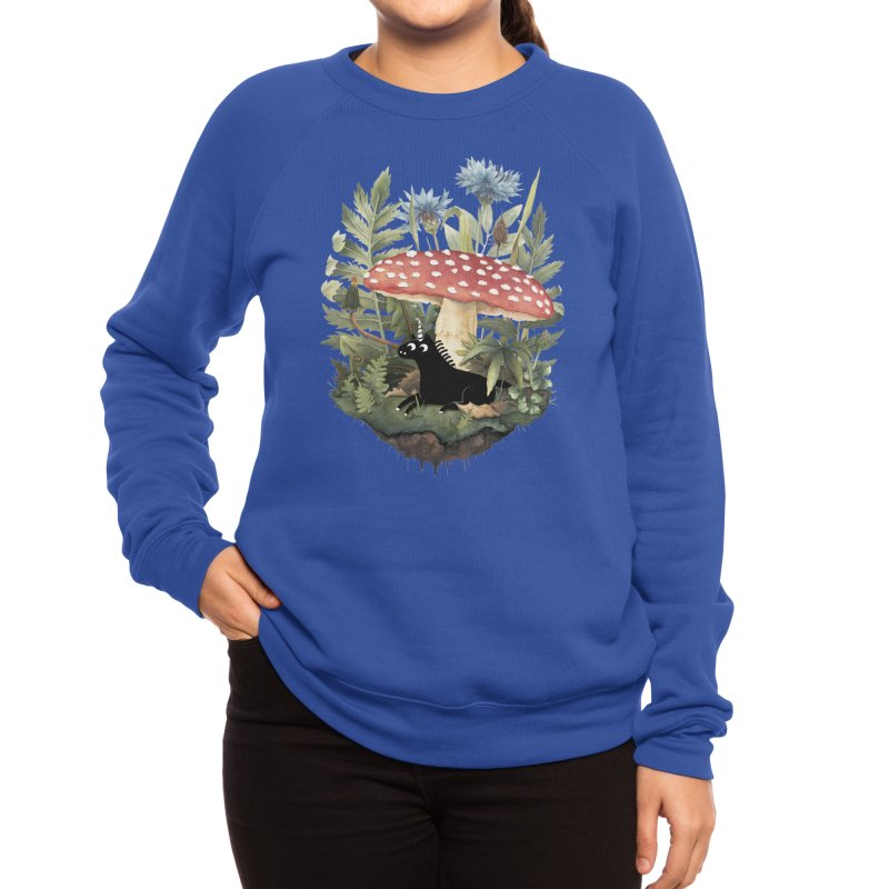 Tiny Unicorn Women's Sweatshirt by Littleclyde Illustration