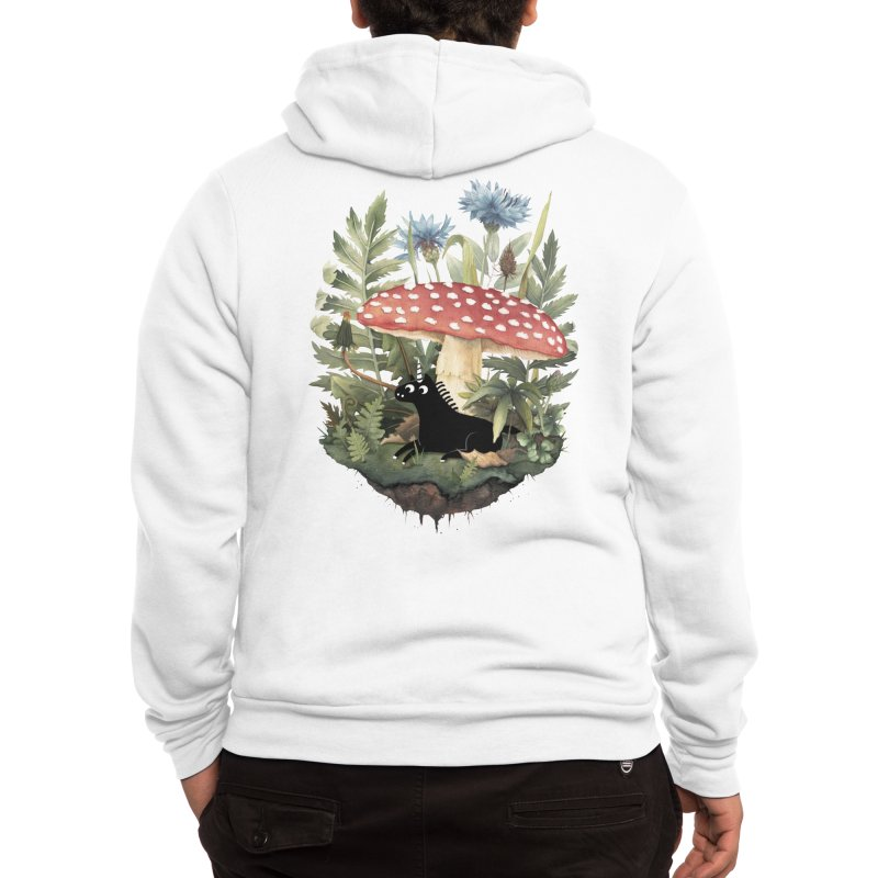 Tiny Unicorn Men's Zip-Up Hoody by Littleclyde Illustration