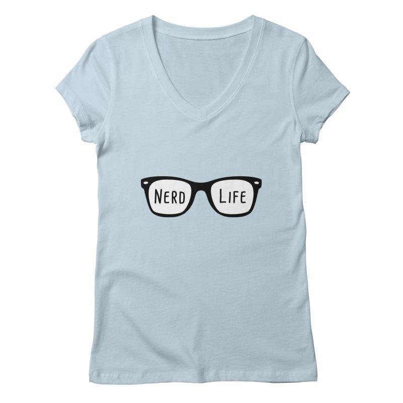 Nerd Life 4Ever Women's V-Neck by little g dehttps://www.threadless.com/profile/arti