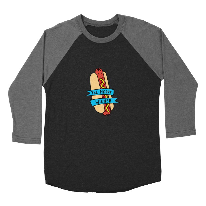 The Happy Wiener Men's Baseball Triblend T-Shirt by little g dehttps://www.threadless.com/profile/arti