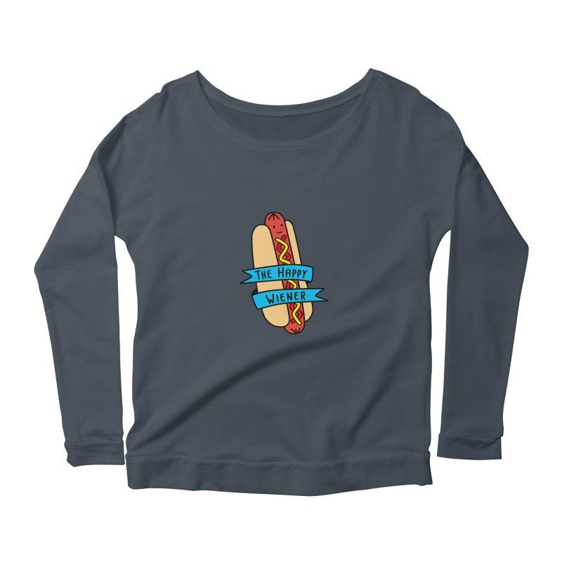 The Happy Wiener Women's Longsleeve Scoopneck  by little g dehttps://www.threadless.com/profile/arti