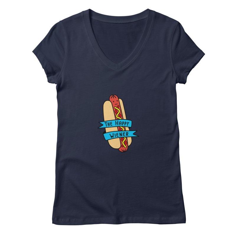 The Happy Wiener Women's V-Neck by little g dehttps://www.threadless.com/profile/arti