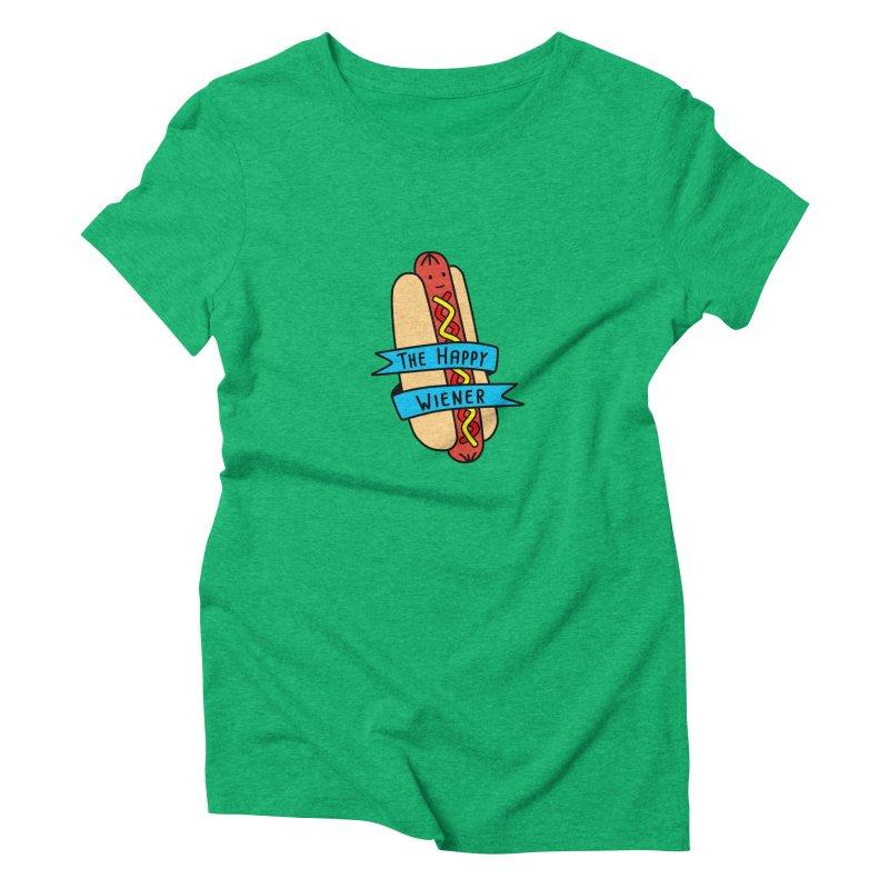 The Happy Wiener Women's Triblend T-Shirt by little g dehttps://www.threadless.com/profile/arti