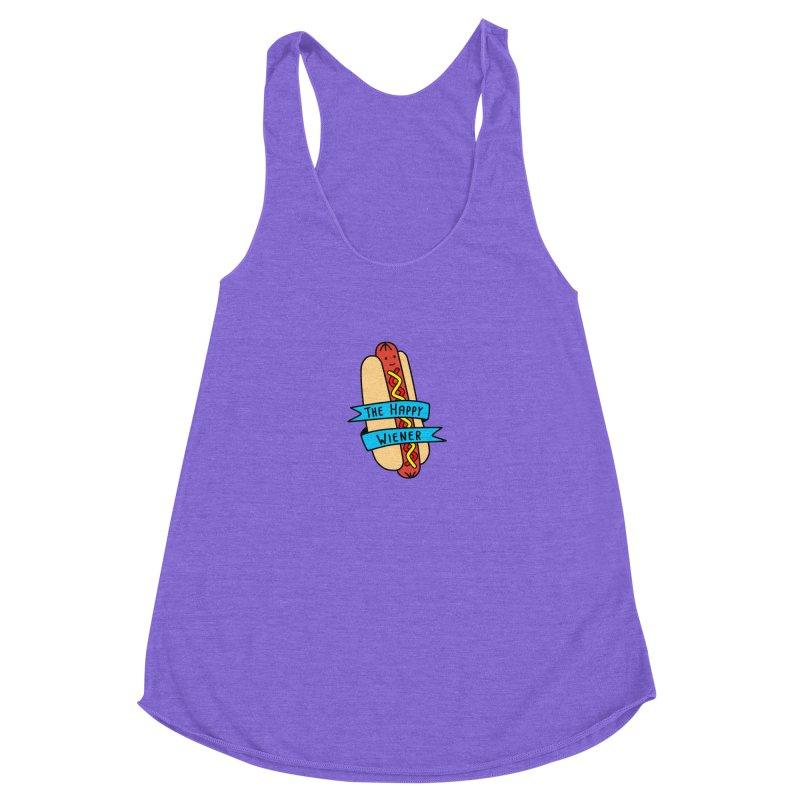 The Happy Wiener Women's Racerback Triblend Tank by little g dehttps://www.threadless.com/profile/arti