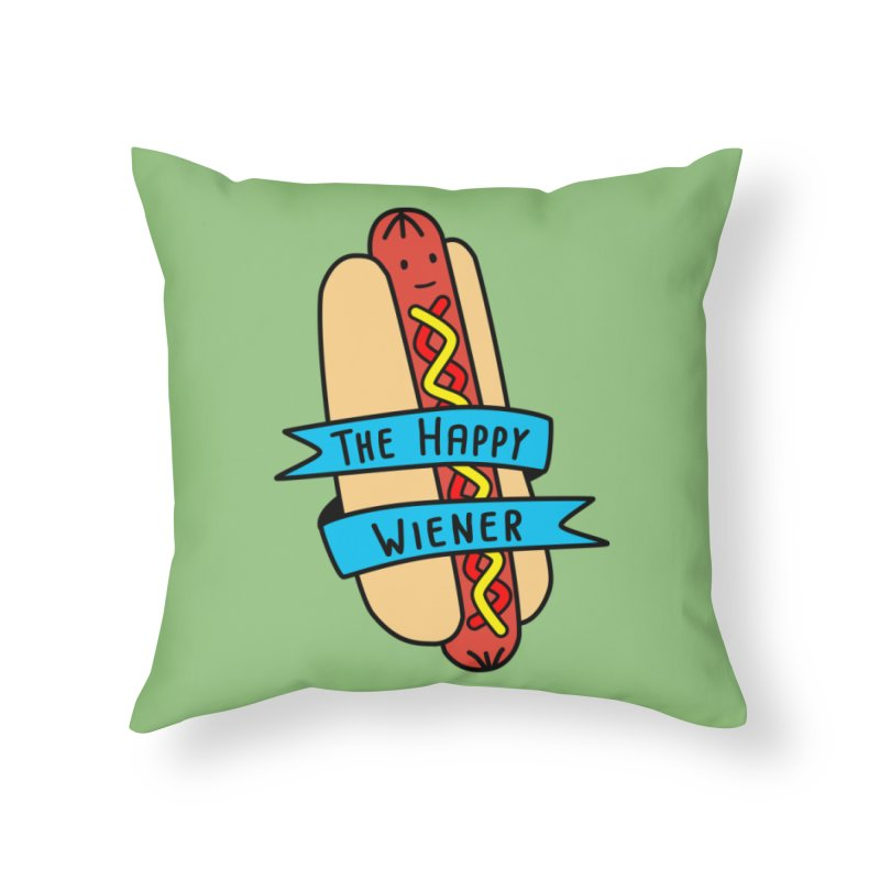 The Happy Wiener Home Throw Pillow by little g dehttps://www.threadless.com/profile/arti