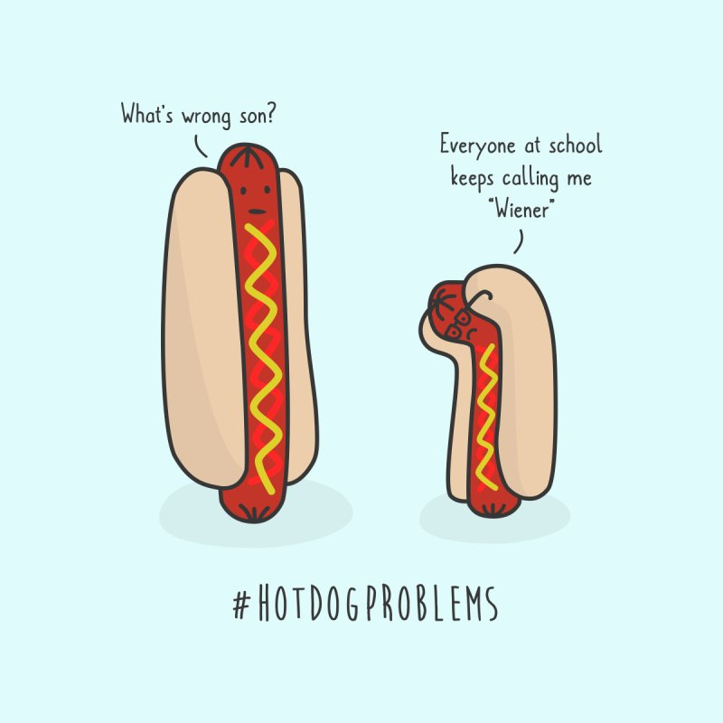 #HotDogProblems by little g dehttps://www.threadless.com/profile/arti