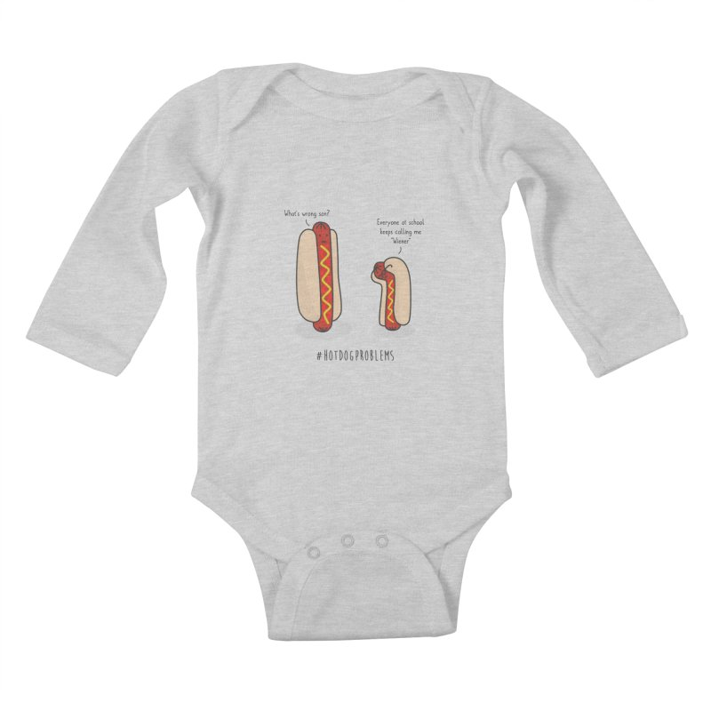 #HotDogProblems Kids Baby Longsleeve Bodysuit by little g dehttps://www.threadless.com/profile/arti