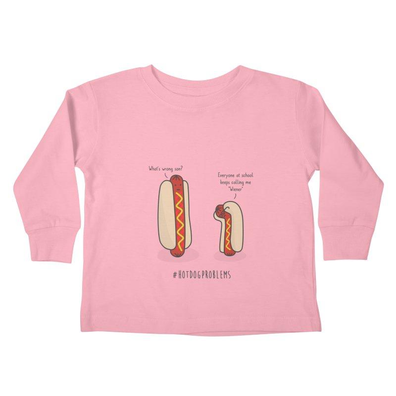 #HotDogProblems Kids Toddler Longsleeve T-Shirt by little g dehttps://www.threadless.com/profile/arti