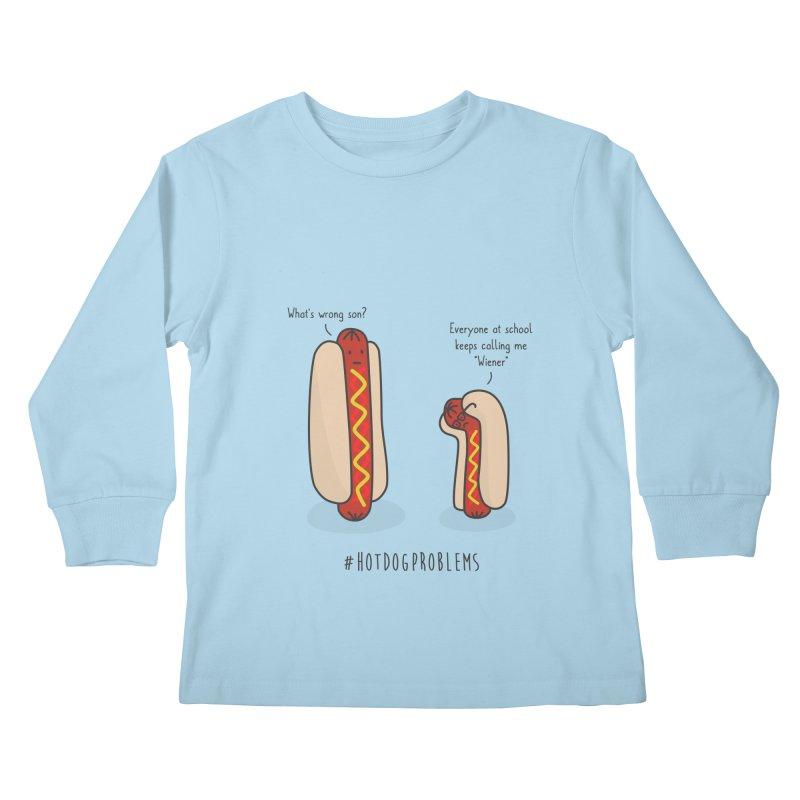 #HotDogProblems Kids Longsleeve T-Shirt by little g dehttps://www.threadless.com/profile/arti