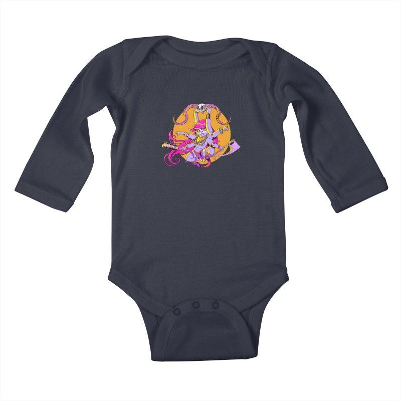 Goddess O' Death Kids Baby Longsleeve Bodysuit by Little Ninja Studios