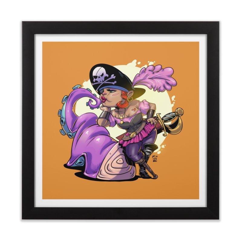 Pirate Sushi Home Framed Fine Art Print by Little Ninja Studios