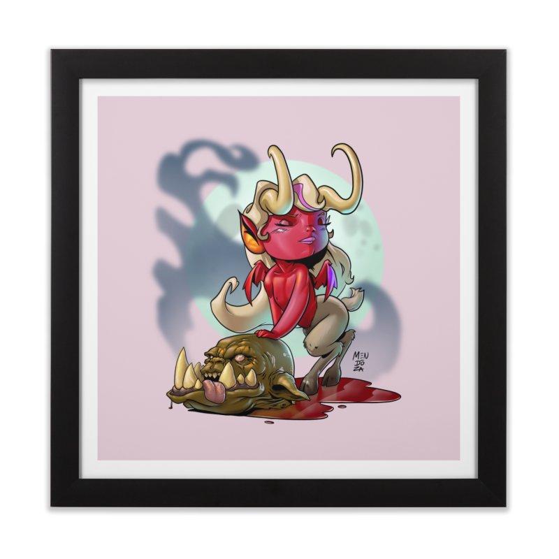 Demoness Home Framed Fine Art Print by Little Ninja Studios
