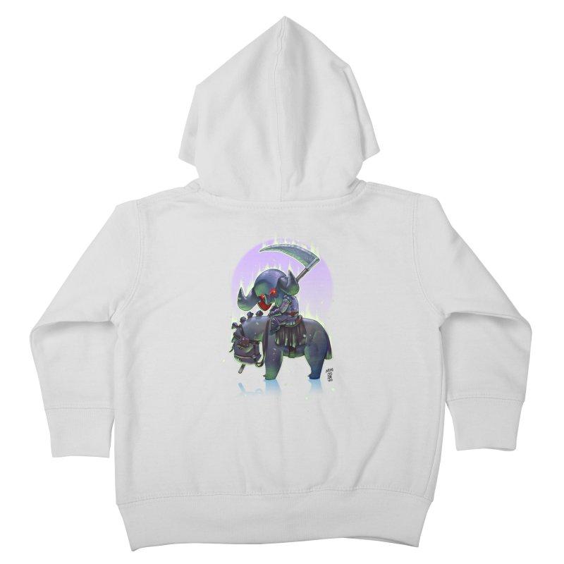 Lil' Dark Equestrian Kids Toddler Zip-Up Hoody by Little Ninja Studios