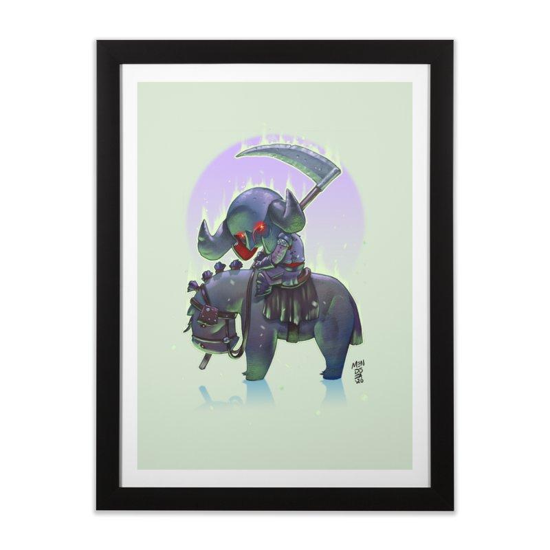 Lil' Dark Equestrian Home Framed Fine Art Print by Little Ninja Studios