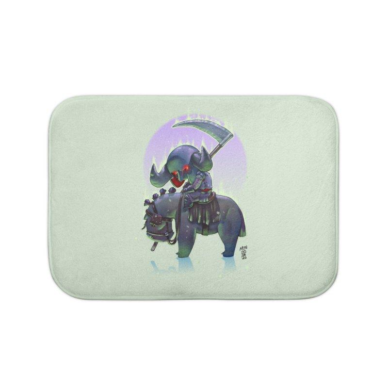 Lil' Dark Equestrian Home Bath Mat by Little Ninja Studios