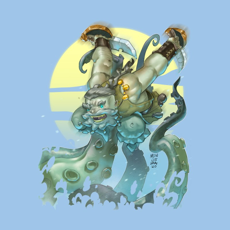 Vs The Kraken Kids T-Shirt by Little Ninja Studios
