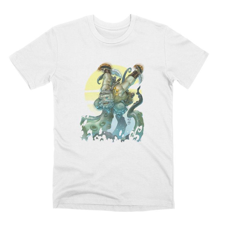 Vs The Kraken Men's T-Shirt by Little Ninja Studios