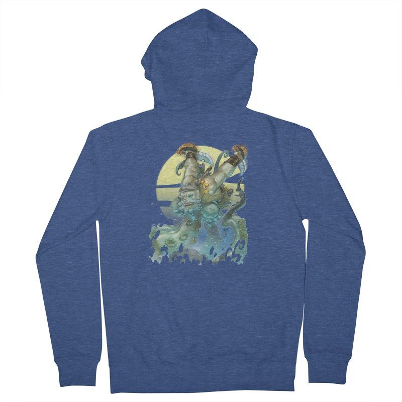 Vs The Kraken Men's Zip-Up Hoody by Little Ninja Studios
