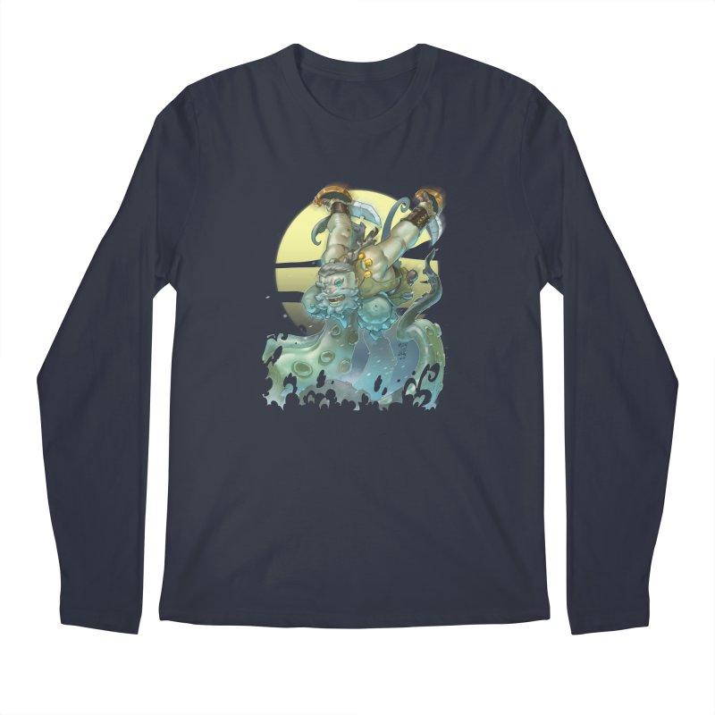 Vs The Kraken Men's Longsleeve T-Shirt by Little Ninja Studios