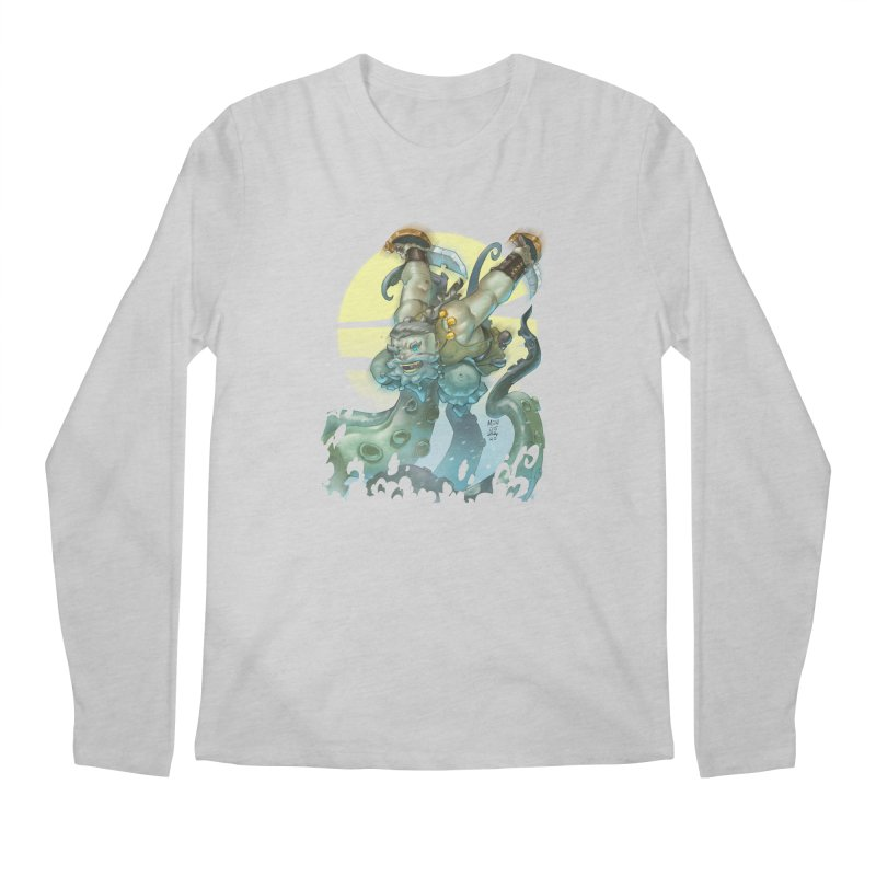 Vs The Kraken Men's Longsleeve T-Shirt by Little Ninja Studios