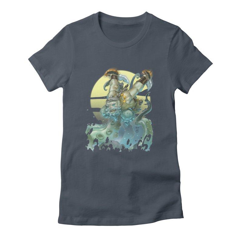 Vs The Kraken Women's T-Shirt by Little Ninja Studios