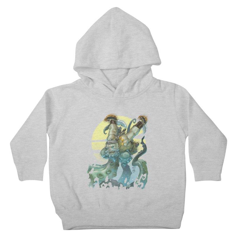 Vs The Kraken Kids Toddler Pullover Hoody by Little Ninja Studios