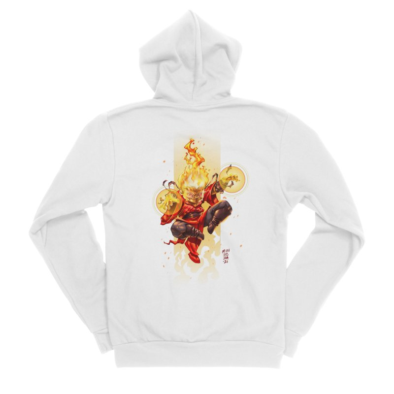 Pyromancer II Women's Zip-Up Hoody by Little Ninja Studios