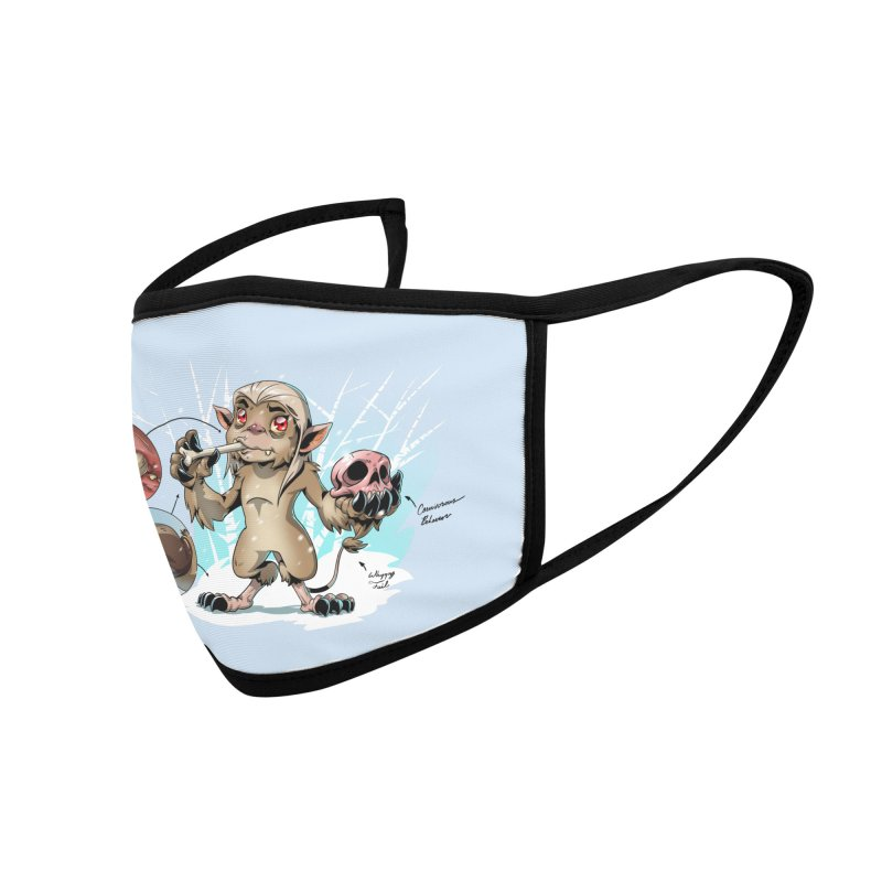 Wendigo Danger Diagram Accessories Face Mask by Little Ninja Studios