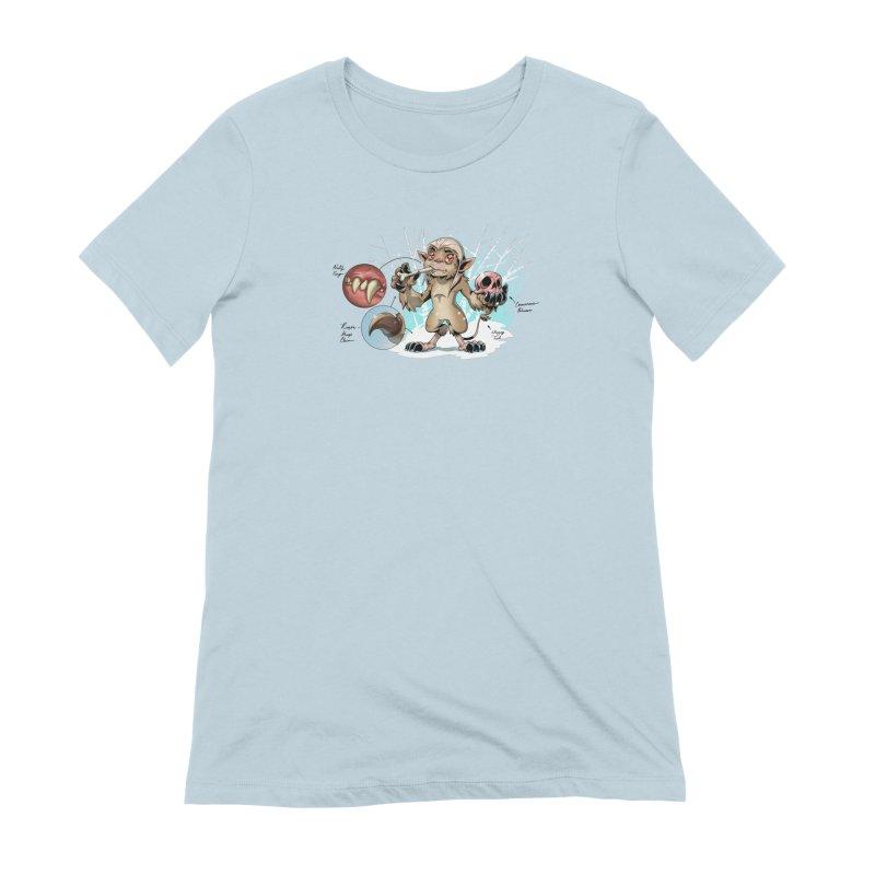 Wendigo Danger Diagram Women's T-Shirt by Little Ninja Studios