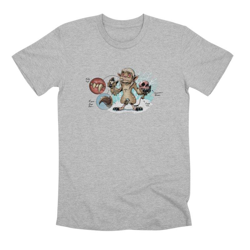Wendigo Danger Diagram Men's T-Shirt by Little Ninja Studios