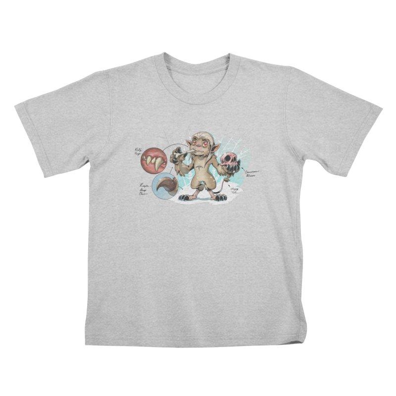 Wendigo Danger Diagram Kids T-Shirt by Little Ninja Studios