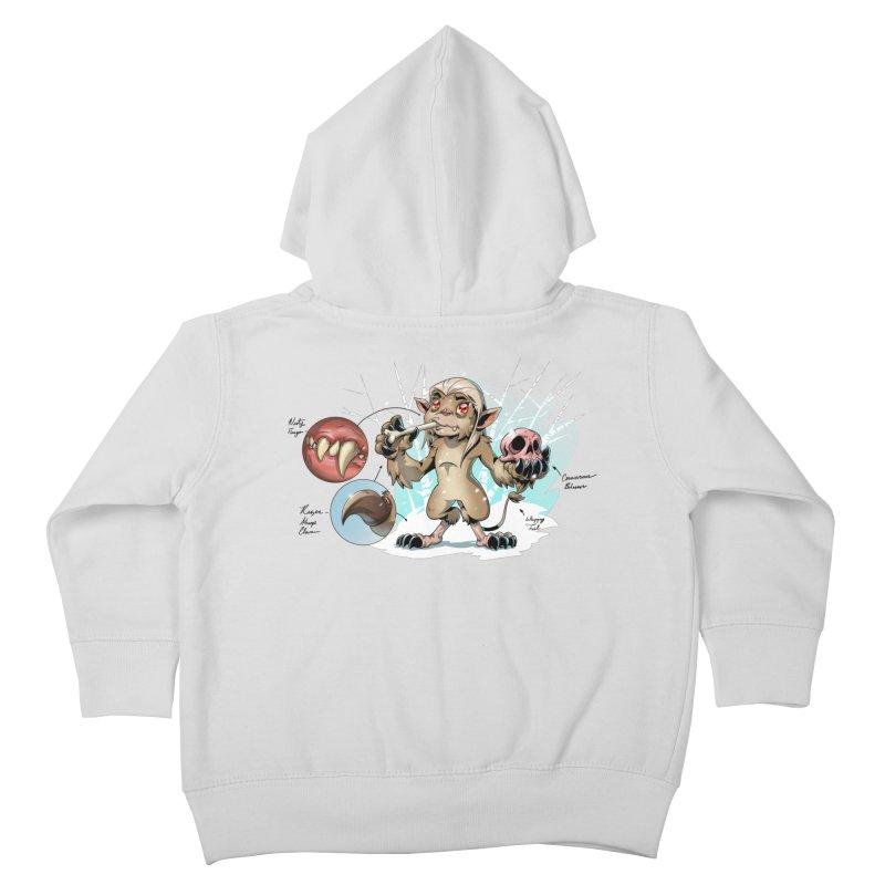 Wendigo Danger Diagram Kids Toddler Zip-Up Hoody by Little Ninja Studios
