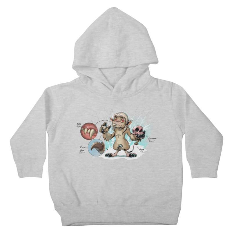 Wendigo Danger Diagram Kids Toddler Pullover Hoody by Little Ninja Studios