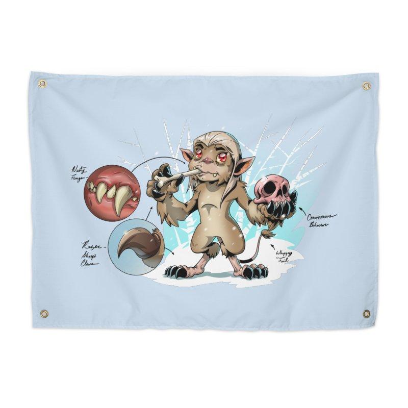Wendigo Danger Diagram Home Tapestry by Little Ninja Studios
