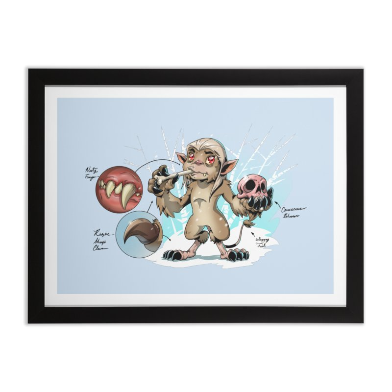 Wendigo Danger Diagram Home Framed Fine Art Print by Little Ninja Studios