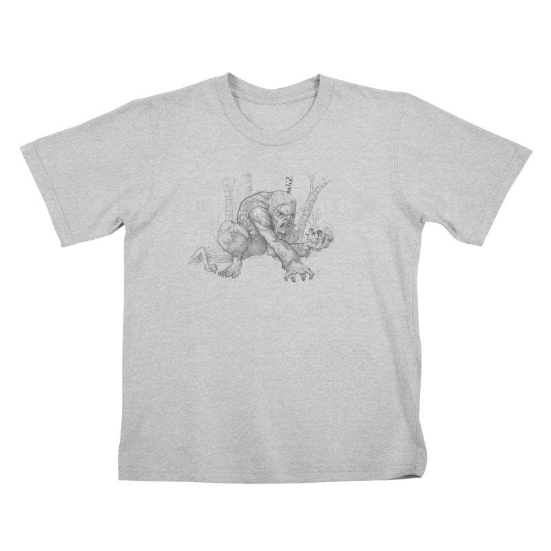 Wendigo Kids T-Shirt by Little Ninja Studios