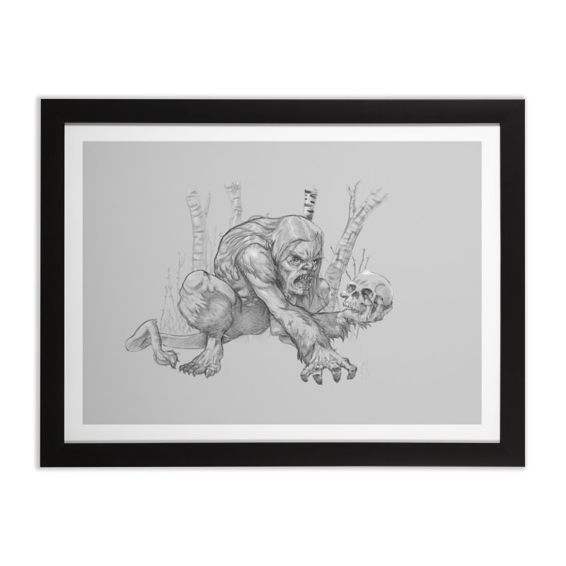 Wendigo Home Framed Fine Art Print by Little Ninja Studios