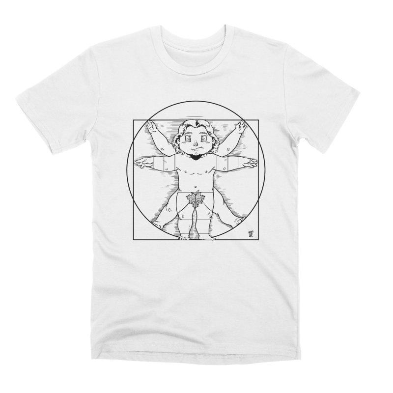 Vitruvian Chibi Men's T-Shirt by Little Ninja Studios