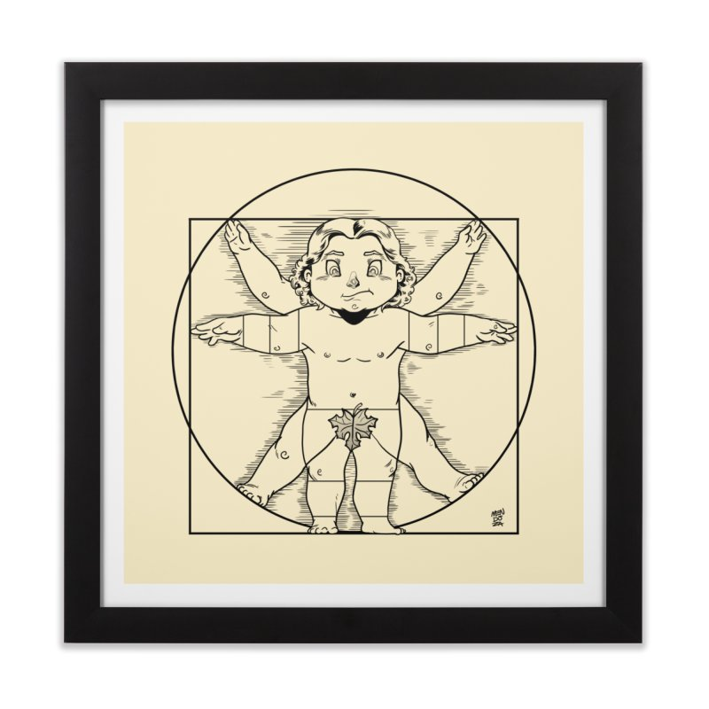 Vitruvian Chibi Home Framed Fine Art Print by Little Ninja Studios