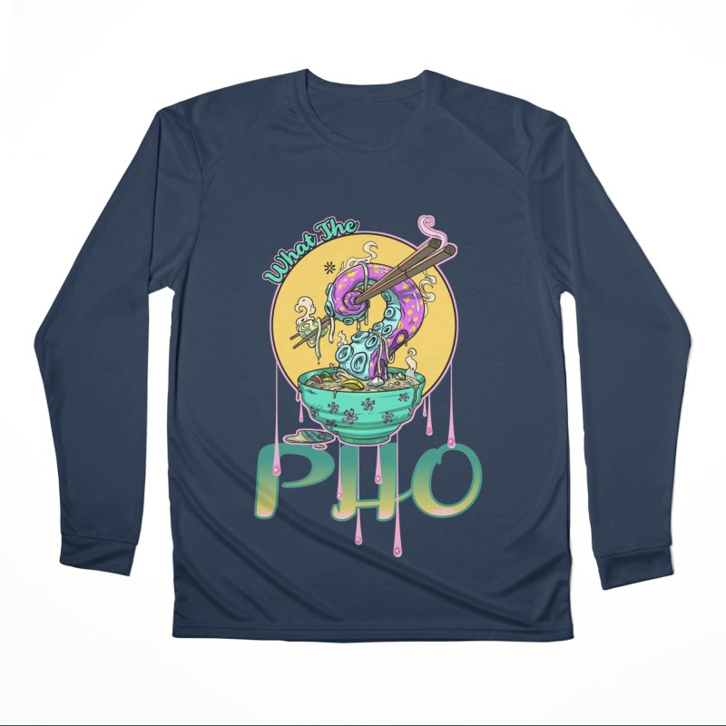 What The Pho Men's Longsleeve T-Shirt by Little Ninja Studios