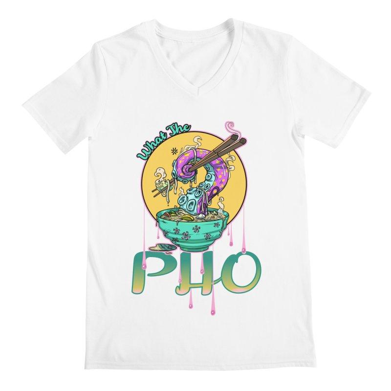What The Pho Men's V-Neck by Little Ninja Studios