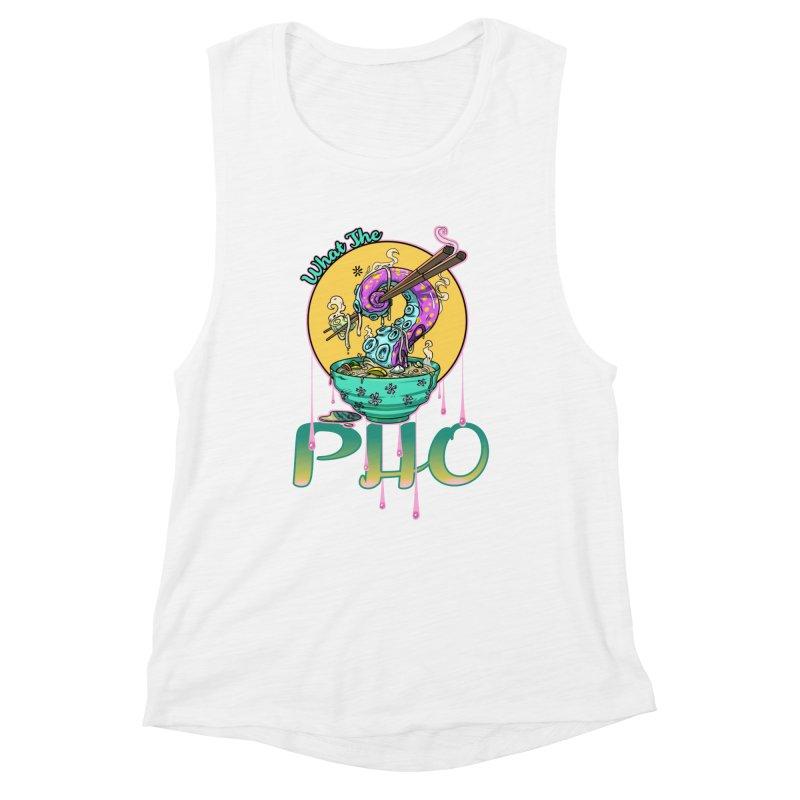 What The Pho Women's Tank by Little Ninja Studios