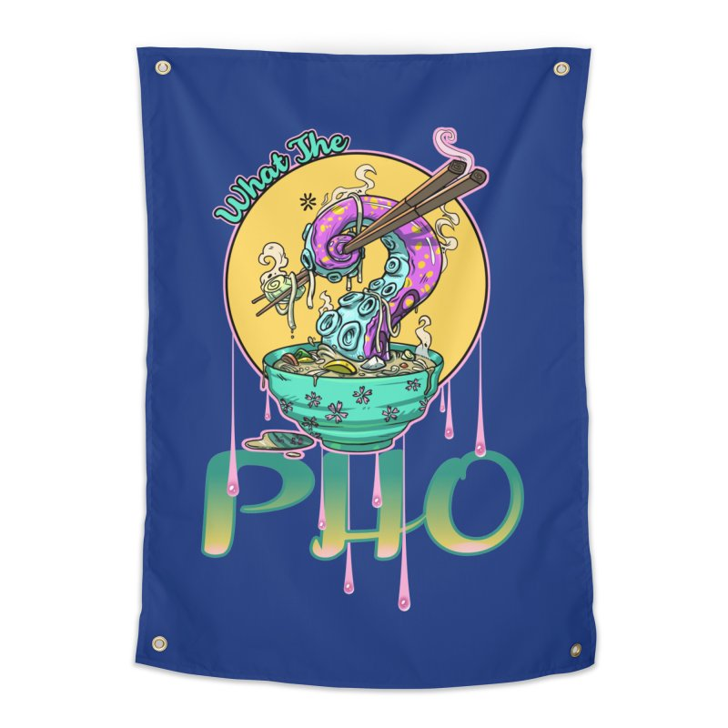 What The Pho Home Tapestry by Little Ninja Studios