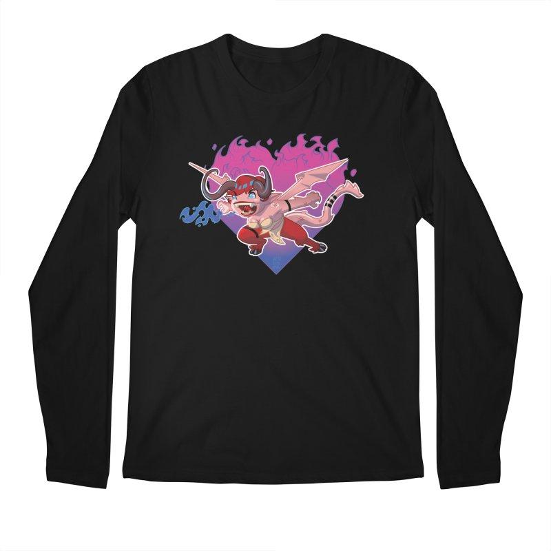 Heart Burn Men's Longsleeve T-Shirt by Little Ninja Studios