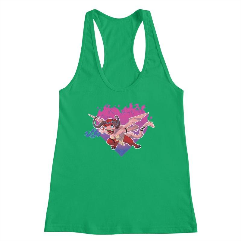 Heart Burn Women's Tank by Little Ninja Studios